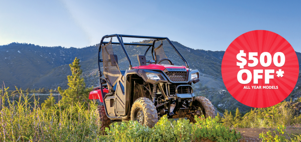 HONDA PIONEER 500 PROMOTION OCT 2019
