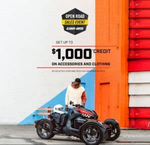 CAN-AM RYKER OPEN ROAD SALES EVENT! -