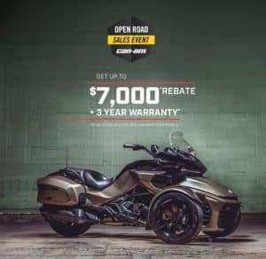 CAN-AM SPYDER OPEN ROAD SALES EVENT! -