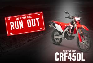 HONDA CRF450L RUN OUT SALE! -