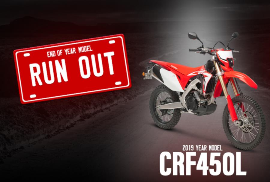 honda crf450l runout sale jul 2020