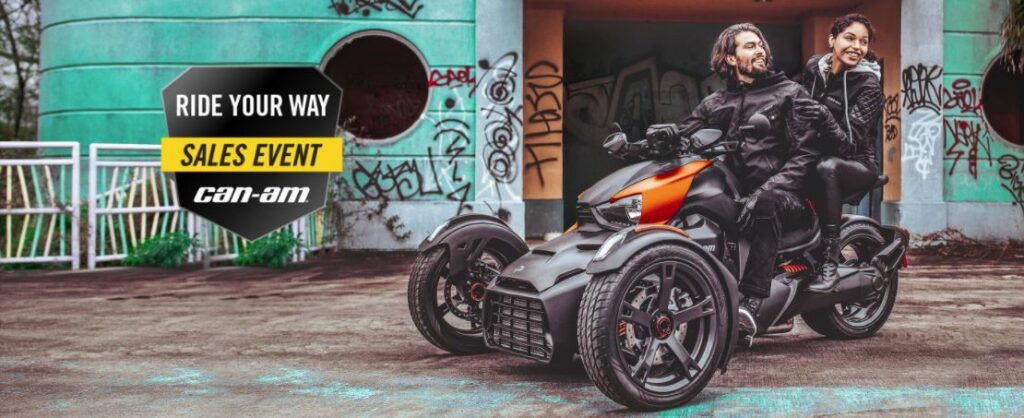 ride your way sales event – canam ryker 01.21