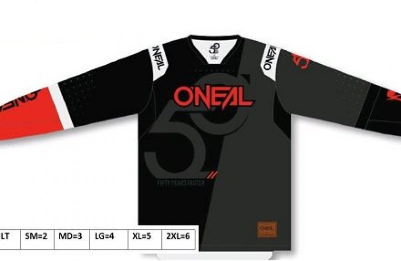 oneal prodigy five-zero jersey